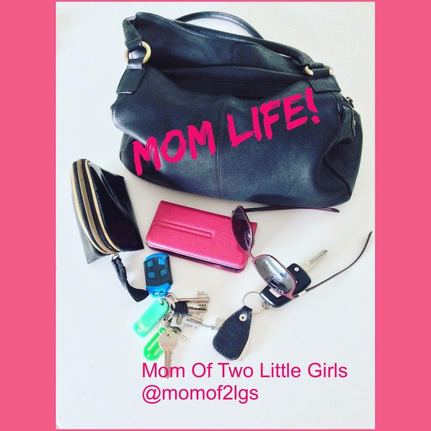 Mom Life Handbag Contents