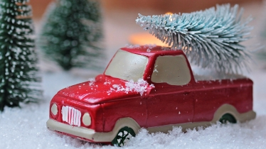 Christmas Traditions Red Car